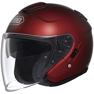 Shoei Metallic J-Cruise Cruiser Motorcycle Helmet - Wine Red / Large from Shoei