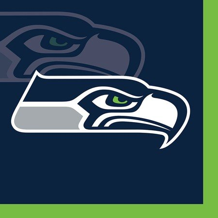 Creative Converting 659528 Seattle Seahawks Beverage Napkin, 2 Ply - Case of 192