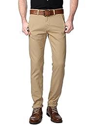 Peter England Khaki Trousers - B01CGMIEZM