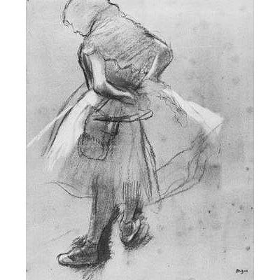 Edgar Germain Hilaire Degas (Dancer her girdle bound) Art Poster Print - 11x17