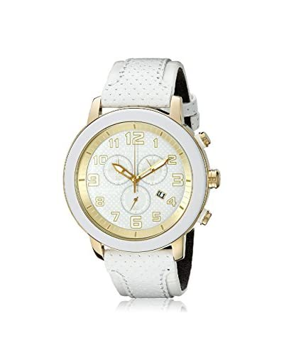 Citizen Women's AT2232-08A Eco-Drive White Leather Watch
