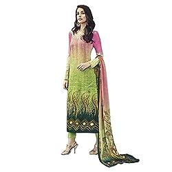 Like a diva JINAAM Cream Cotton Party Wear Salwar Kameez / Churidar Dress material