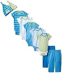 Gerber Baby-Boys Newborn Cars 9 Piece Playwear Bundle, Cars, 3-6 Months