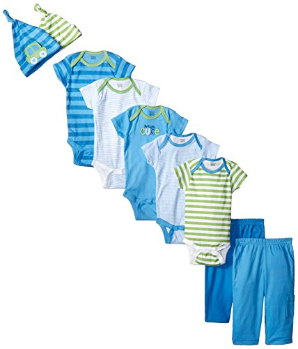 Gerber Baby-Boys Newborn Cars 9 Piece Playwear Bundle, Cars, 3-6 Months
