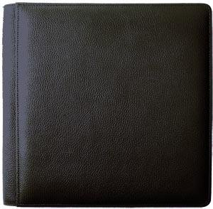 SANTA FE Black smooth-grain leather #106 scrapbook