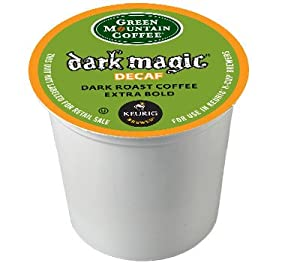 Green Mountain Coffee Decaf Dark Magic, K-Cup for Keurig Brewers