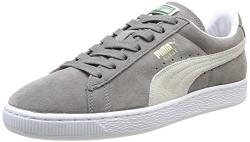 Puma Suede Classic+ Scarpe Basket, Unisex adulto, Grigio (Steeple Gray/White), Taglia 43
