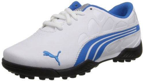 PUMA JR Biofusion Golf Shoe (Little Kid/Big Kid),White/Blue Aster,6 M US Big Kid