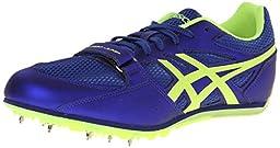 ASICS Turbo Jump 2 Track And Field Shoe,Deep Blue/Flash Yellow,10.5 M US