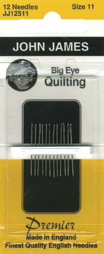 Big Eye Quilting Hand Needles-Size 11 12/Pkg (Hand Quilting Needles Size 11 compare prices)