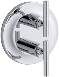 KOHLER K-T14489-4-CP Purist Stacked Valve Trim, Polished Chrome