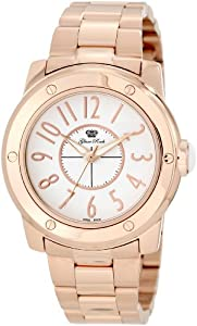 Glam Rock Women's GR50009 Aqua Rock White Dial Rose Gold Ion-Plated Stainless Steel Watch