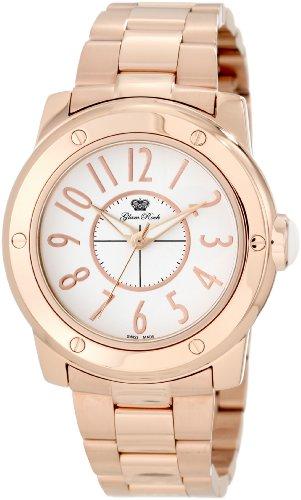 Glam Rock GR50009 - Reloj analógico de cuarzo unisex, correa de acero inoxidable chapado color oro rosa