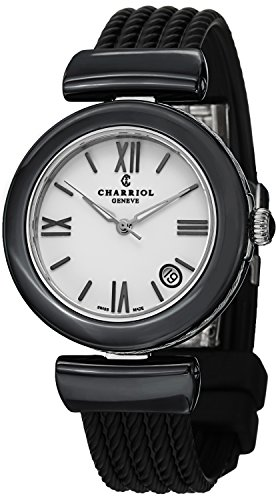 charriol-ael-ladies-black-ceramic-rubber-strap-watch-ae33cb173004