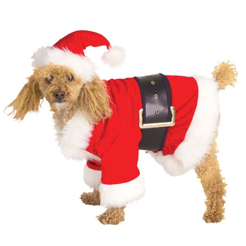 Santa Claus (Velour) Pet Christmas Costume Size Large