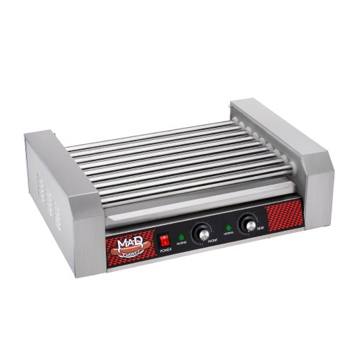 Great Northern Popcorn Company 24 Hot Dog 9 Commercial Roller Grilling Machine, 1800W, Silver (Hot Dog Roller Grilling Machine compare prices)