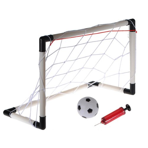 (Large Size) Kids Childs Mini Football Soccer Goal Post Net Set Ball Pump Practise Plastic Indoor Outdooor Toy Gadget