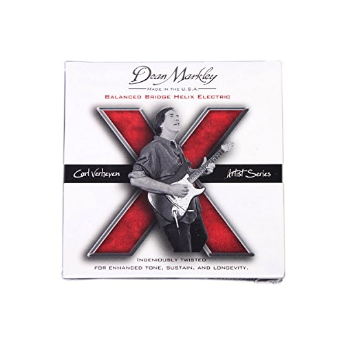 Dean Markley Helix 2517 Nickel Plated Electric Guitar Strings, Light Helix Carl Verheyen, 9-46