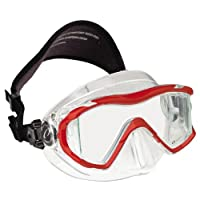 New Oceanic Ion 3 Scuba Diving & Snorkeling Mask (Red) with FREE Neoprene Comfort Strap ($12.95 Value)
