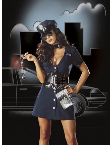 Corrupt Cop Lg Adult Womens Costume