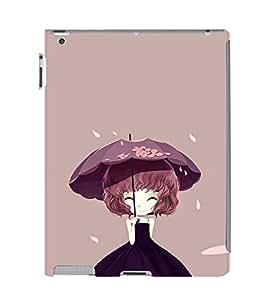 EPICCASE Purple Dress girl Mobile Back Case Cover For Apple Ipad 2/3/4 (Designer Case)