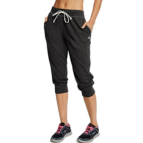 Champion Women's French Terry Jogger Capri_Black_S