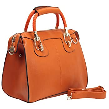 Follow the season's chic fashions without the big price tag. Score major fashion points wherever you go when keeping this sleek bowler satchel close at hand. This handbag purse is stylish with everything from jeans to now-a-days trendiest fashions, a...