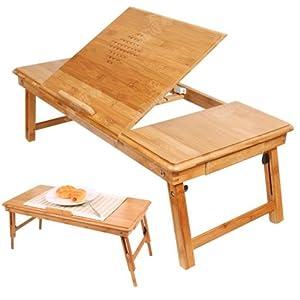 Sobuy fbt04 l n aussi convenable pour gauchers table de - Table de lit pour pc ...