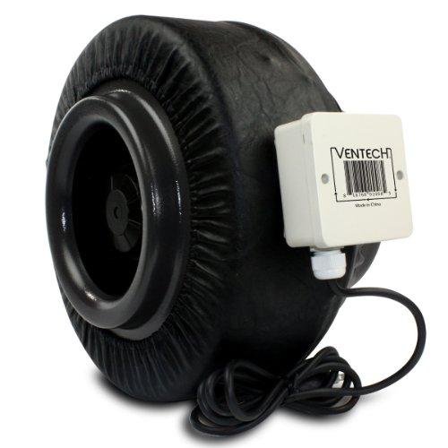 8 Inline Exhaust Fan : Ventech inch inline exhaust fan blower centrifugal