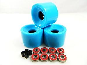 Buy Big Boy 60mm Gel Solid Skateboard Wheels + ABEC 7 Bearings Spacers by Big Boy