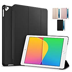 iPad Pro 9.7 inch Case iPad Pro 9.7 Case ESR Rubber Cover Slim Fit Leather Smart Case with Rubberized Back Cover and Auto Wake Sleep Function for Apple iPad Pro 9.7 inch 2016 Release Black