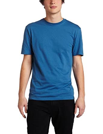 Quiksilver Men's Blank Slim Fit Tee, Coastal Blue, Large