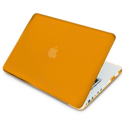 eForCity Snap-On Rubber Coated Case for Apple MacBook Pro, Orange (PAPPMCBKCO20)