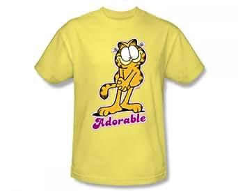 Garfield - - Adorable Slim Fit T-shirt adulte chez le bananier, XX-Large, Banane