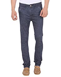 SAVON Mens 16124_03 Slim Fit Blue Stretch Denim Jeans For Men 28