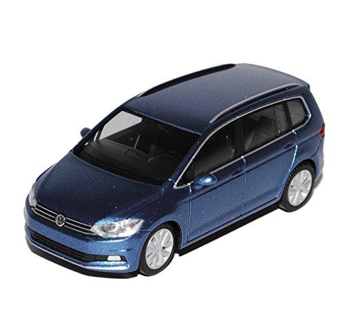 VW-Volkswagen-Touran-II-Blau-Grau-Ab-2015-H0-187-Herpa-Modell-Auto-mit-individiuellem-Wunschkennzeichen