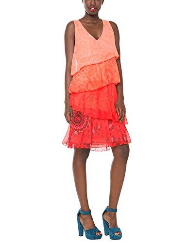 Desigual Damen A-Linie Kleid 61V28Q5, Knielang, Gr. 38 (Herstellergröße: 40), Violett (POTENT PURPLE 3152) thumbnail