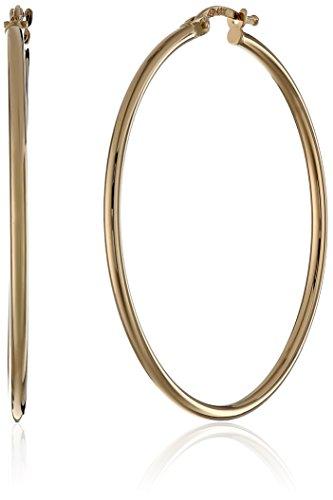 """18K Yellow Gold Hoop Earrings (1.75"""" Diameter)"""