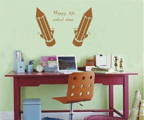 Decoration wall sticker wall mural decor-Happy life school time