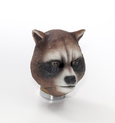 Latex Animal Costume Mask Adult: Raccoon