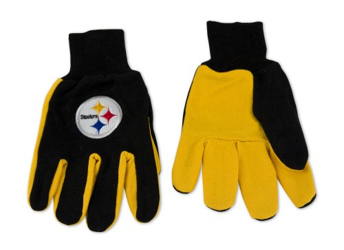 NFL Pittsburgh Steelers Two-Tone Gloves at Steeler Mania