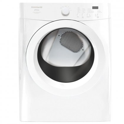 Frigidaire FAQE7001LW Affinity 7.0 Cubic Foot Electric Dryer with Ultra-Capacity and TimeWise Technolo, Classic White