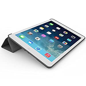 iPad Air 2 Case (iPad 6) - KHOMO DUAL Super Slim Grey Cover with Rubberized back and Smart Feature (Built-in magnet for sleep / wake feature) For Apple iPad Air 2 Tablet from iPad Air 2 Case