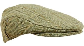 B25 Derby Tweed Flat Cap Teflon Coated - L - 59cm, Light Derby Tweed