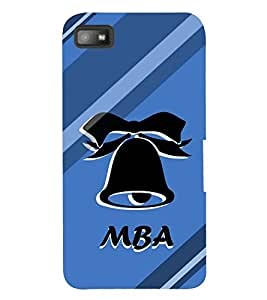 printtech Mba Back Case Cover for BlackBerry Z10