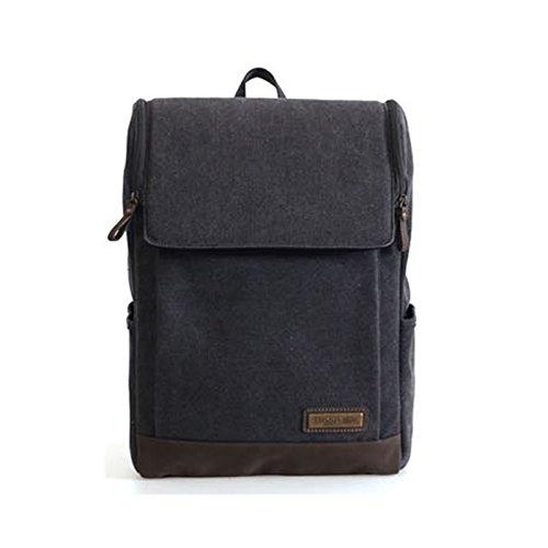 troop-london-trk-001-unisex-casual-backpack-canvas-fabric-leather-waterproof-black