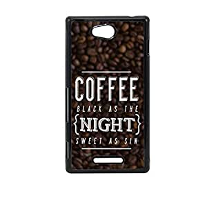 Vibhar printed case back cover for Sony Xperia C CoffeeSin