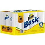 Bounty Basic Paper Towels Super Pack Size New Value Size Package 12 Large Rolls (Pack of 4)