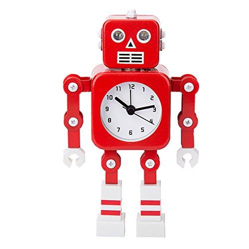Robot Horloge Movable chevet alarme horloge analogique yeux šŠtincelants Et Son F