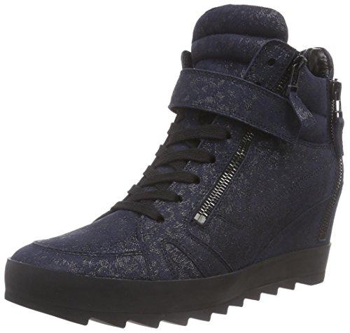 Kennel und Schmenger Schuhmanufaktur Soho, Sneaker alta donna, Blu (Blau (ocean So. schwarz)), 42